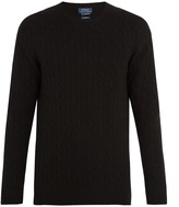 Polo Ralph Lauren Crew-neck cable-knit cashmere sweater