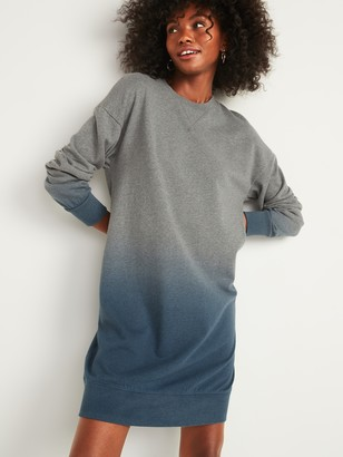 Old Navy Dip-Dyed French Terry Sweatshirt Shift Dress for Women