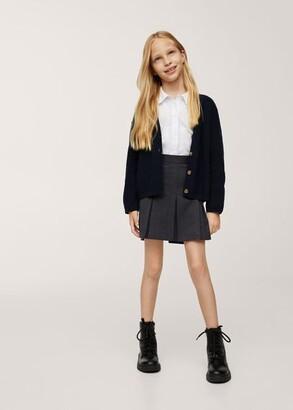 MANGO Wide pleated skirt