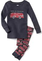 Old Navy 2-Piece Firetruck Graphic Sleep Set for Toddler & Baby