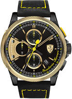 Ferrari Scuderia Men's Chronograph Formula Italia Black Leather Strap Watch 46mm 0830314