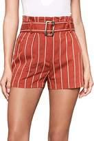 Sugar Lips Sugarlips Women's Striped Paper Bag Shorts