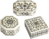 Twos Company Laxmi Vilas Palace Mosaic Boxes (Set of 3)