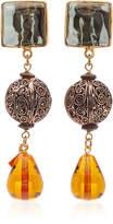 Loulou De La Falaise Loulou de la Falaise 24K Gold-Plated And Beaded Earrings
