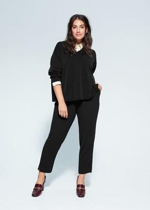 MANGO Violeta BY Plush hoodie black - S - Plus sizes