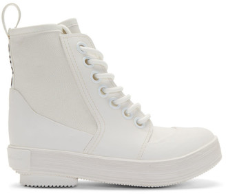 Proenza Schouler White Smooth Rubber Boots