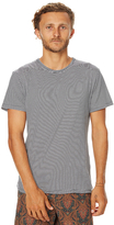 rhythm Everyday Stripe Mens T Shirt Black
