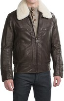 Andrew Marc Carmine II Aviator Jacket - Distressed Leather (For Men)