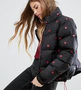 Lazy Oaf Padded Jacket With Hearts