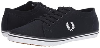 Fred Perry Kingston Twill (Falcon Grey/Carbon Blue) Men's Shoes