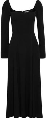 Reformation Sigmund Shirred Crepe Midi Dress