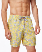 Cutter & Buck Men's Big & Tall Jetty Paisley Swim Trunks