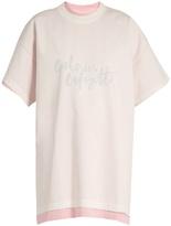 Vetements x Hanes oversized double-layer cotton T-shirt