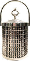 One Kings Lane Vintage Silver Faux Bamboo Champagne Bucket