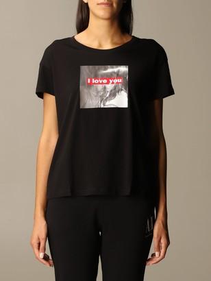 Armani Collezioni Armani Exchange T-shirt Half Sleeve Crew Neck With Regular Print