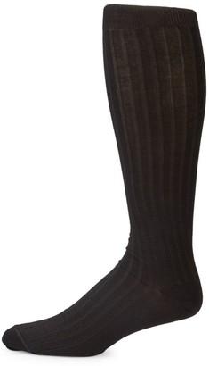 Saks Fifth Avenue COLLECTION Rib-Knit Knee-High Socks