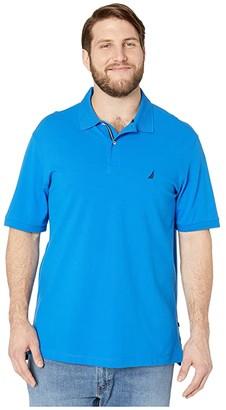 Nautica Big Tall Short Sleeve Solid Deck Shirt (Blue 1) Men's Clothing