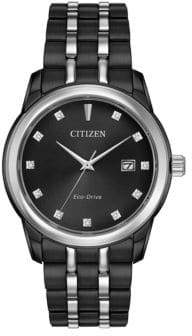 Citizen Corso Eco-Drive Ion Plated Analog Stainless Steel Bracelet Watch
