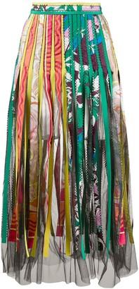 Emilio Pucci Mix Print Midi Skirt