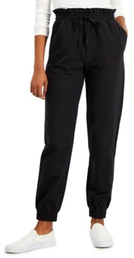 Derek Heart Juniors' Paper-Bag Waist Jogger Pants