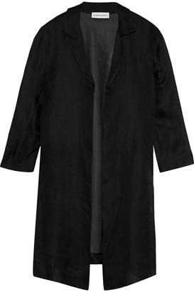 Mansur Gavriel Waffle-knit Silk-organza Jacket