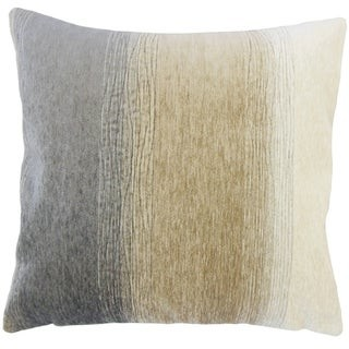 The Pillow Collection Vasska Ombre Down Filled Throw Pillow in Charcoal