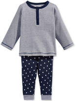First Impressions 2-Pc. Striped Top and Star-Print Pants Set, Baby Boys (0-24 months), Created for Macy's