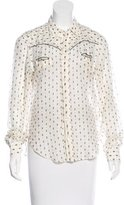 Miu Miu Printed Long Sleeve Top