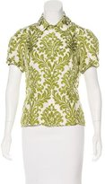 Magaschoni Printed Button-Up Top
