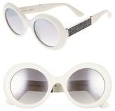 Jimmy Choo Women's Wendy 51Mm Round Sunglasses - Black/ Glitter/ Black