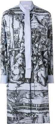 J.W.Anderson durer scene print striped shirtdress