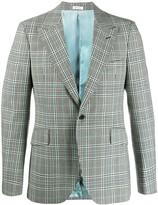 Alexander McQueen check tailored blazer