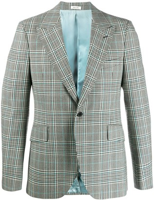Alexander McQueen check tailored blazer