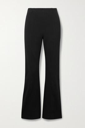 Ninety Percent + Net Sustain Organic Cotton-blend Jersey Flared Pants - Black