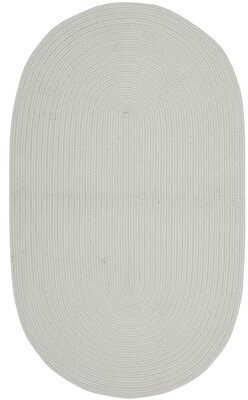 """Safavieh Winding Oyster Hand-Braided Gray Area Rug Rug Size: Oval 1'8"""" x 2'10"""""""