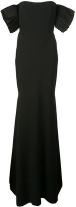 Alex Perry off the shoulder evening gown