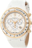 Versace Men's 28CCP1D001 S001 Dv One Ceramic Case with Rose Gold IP Tachymeter Bezel Dial Chronograph Date Leather Watch