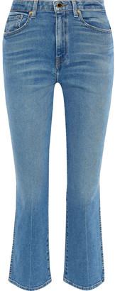 KHAITE Benny Faded High-rise Kick-flare Jeans