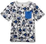 Tea Collection Fish Graphic Pocket T-Shirt