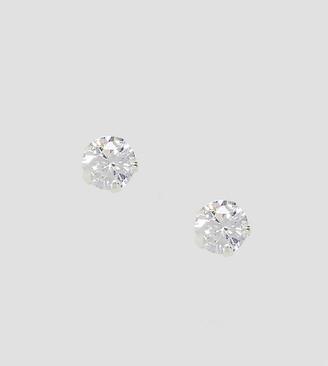 Kingsley Ryan rhinestone stud earrings in sterling silver