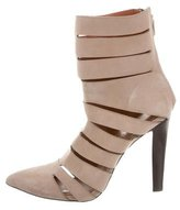 Rebecca Minkoff Suede Cutout Ankle Boots