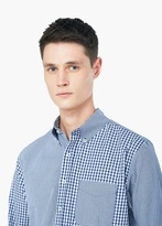 Mango Outlet Modern Slim Gingham Check Shirt