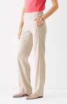 J. Jill Easy Linen-Stretch Flat-Front Pants