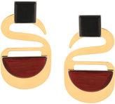 Marni geometric drop earrings