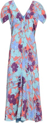 Roberto Cavalli Floral-print Silk Crepe De Chine Midi Dress
