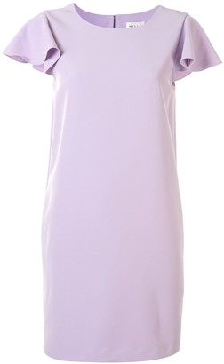 Milly Ruffle Short-Sleeve Shift Dress