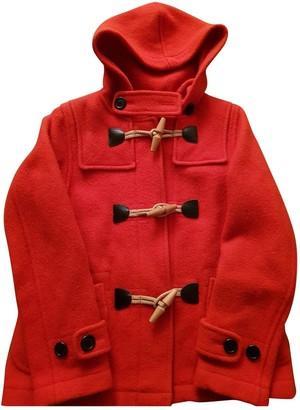 J&M Davidson J & M Davidson Orange Wool Coat for Women