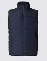 M&S Collection Tailored Fit Quilted Gilet with StormwearTM