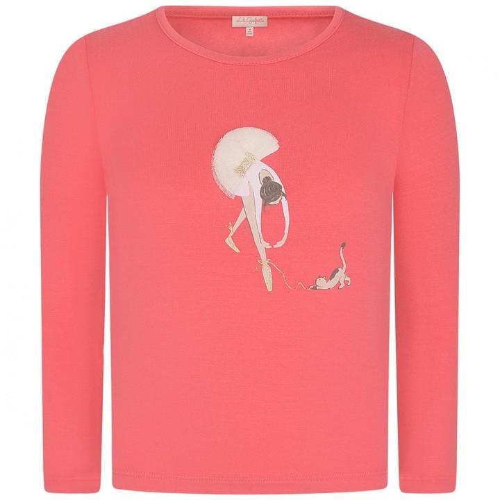 Girls Pink Ballerina Top