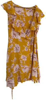 Free People Yellow Viscose Dresses